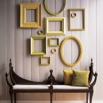 Bench with Picture Frames