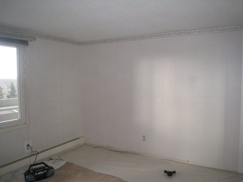 Room being prepared for painting