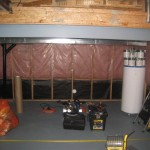 "Basement with 2"" x 4"" and insulation 2"