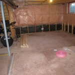 "Basement with 2"" x 4"" and insulation 4"